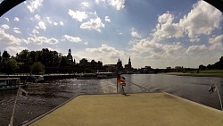 Picture from track Along the river Elbe from Dresden on a wheeled steamboat